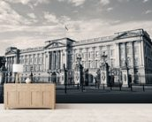 Buckingham Palace B/W wallpaper mural living room preview