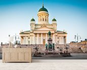 Helsinki Cathedral wall mural living room preview