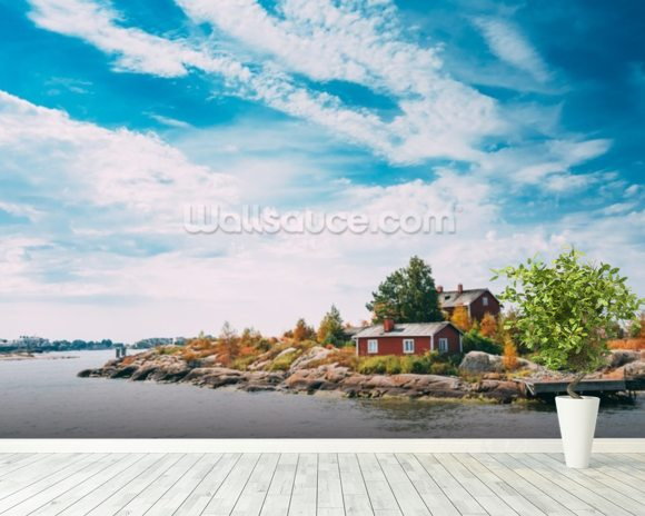 Island, Helskinki wallpaper mural room setting