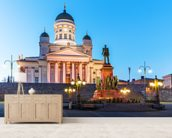 Senate Square, Helsinki wall mural living room preview