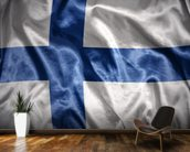 Finland Flag wall mural kitchen preview