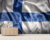 Finland Flag wall mural living room preview