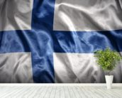 Finland Flag wall mural in-room view