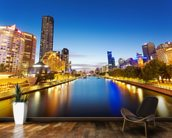 Yarra River in Melbourne wallpaper mural kitchen preview