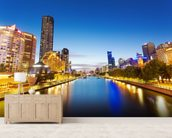 Yarra River in Melbourne wallpaper mural living room preview