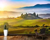 Tuscany at Sunrise mural wallpaper kitchen preview