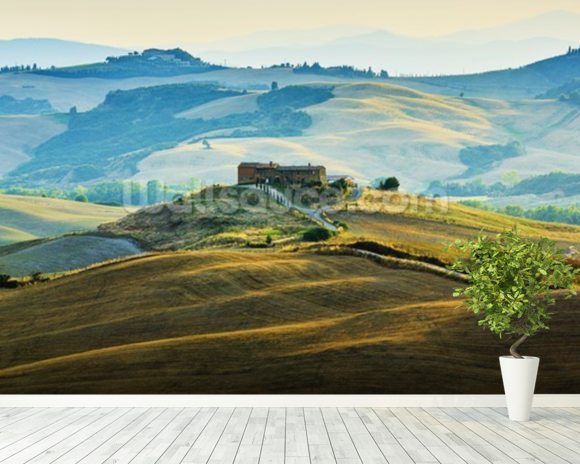 San Quirico d´Orcia, Italy wall mural room setting