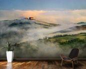 Misty Landscape, Tuscany wallpaper mural kitchen preview