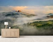 Misty Landscape, Tuscany wallpaper mural living room preview