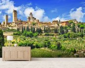 Beautiful San Gimignano, Tuscany wall mural living room preview