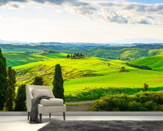 Rural Tuscany wallpaper mural