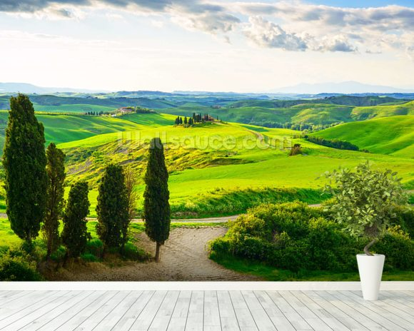 rural tuscany wallpaper wall mural wallsauce