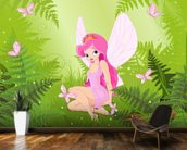 Magic Forest Fairy wallpaper mural kitchen preview