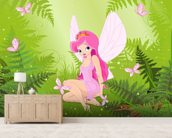 Magic Forest Fairy wallpaper mural living room preview