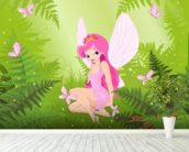 Magic Forest Fairy wallpaper mural in-room view