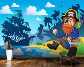 Pirate on Shore wallpaper mural kitchen preview