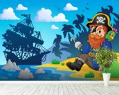 Pirate on Shore wallpaper mural in-room view