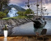 Pirate Ship at Anchor wall mural kitchen preview