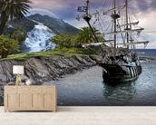 Pirate Ship at Anchor wall mural living room preview