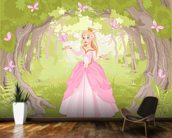 Princess in Enchanted Woodland wallpaper mural kitchen preview