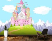 Fairytale Castle Landscape mural wallpaper kitchen preview