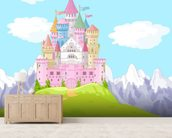 Fairytale Castle Landscape mural wallpaper living room preview
