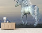 Fairytale Unicorn wall mural living room preview