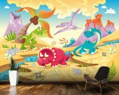 Dinosaurs Cartoon wall mural kitchen preview