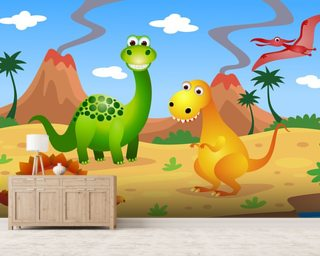 Fun Dinosaurs Wallpaper Mural Wall Murals Wallpaper
