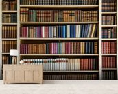 Old Books Bookcase wallpaper mural living room preview