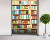 Colourful Bookcase wall mural in-room view