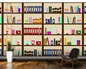 Modern Bookcase Illustration wall mural kitchen preview