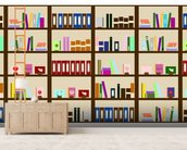Modern Bookcase Illustration wall mural living room preview
