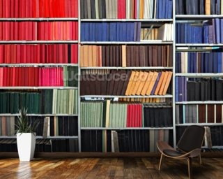 Colourful Library mural wallpaper