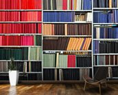 Colourful Library mural wallpaper kitchen preview