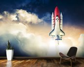 Space Shuttle wallpaper mural kitchen preview