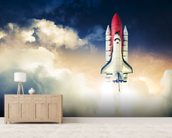Space Shuttle wallpaper mural living room preview