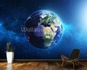 Planet Earth mural wallpaper kitchen preview