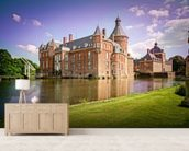 Castle and Moat, Anholt mural wallpaper living room preview