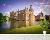 Castle and Moat, Anholt mural wallpaper in-room view