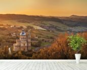 Montepulciano, Church of San Biagio wallpaper mural in-room view