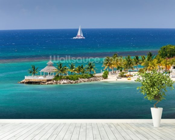 Ocho Rios Inlet, Jamaica wallpaper mural room setting