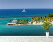 Ocho Rios Inlet, Jamaica wallpaper mural in-room view
