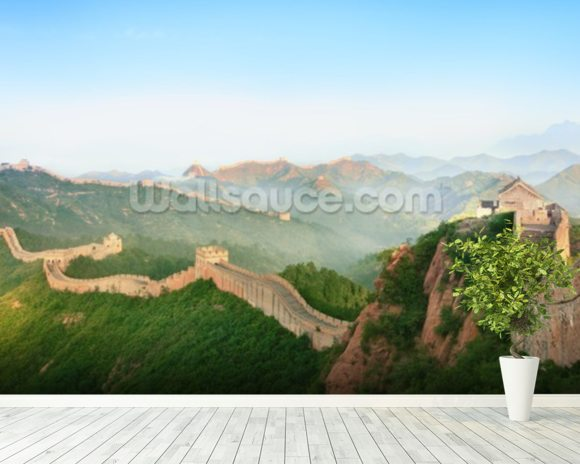 Great Wall of China Landscape mural wallpaper room setting