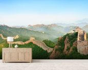 Great Wall of China Landscape mural wallpaper living room preview