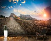 Great Wall of China Sunset wall mural kitchen preview