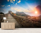 Great Wall of China Sunset wall mural living room preview