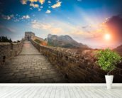 Great Wall of China Sunset wall mural in-room view