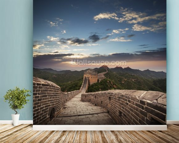 Great Wall of China wallpaper mural room setting