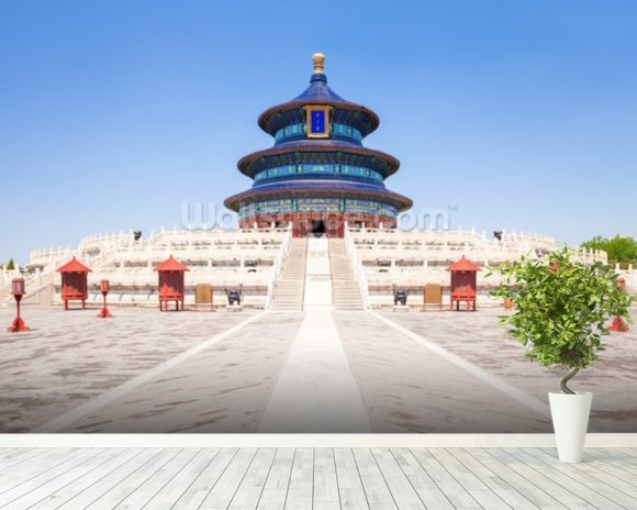 Temple of Heaven wallpaper mural room setting